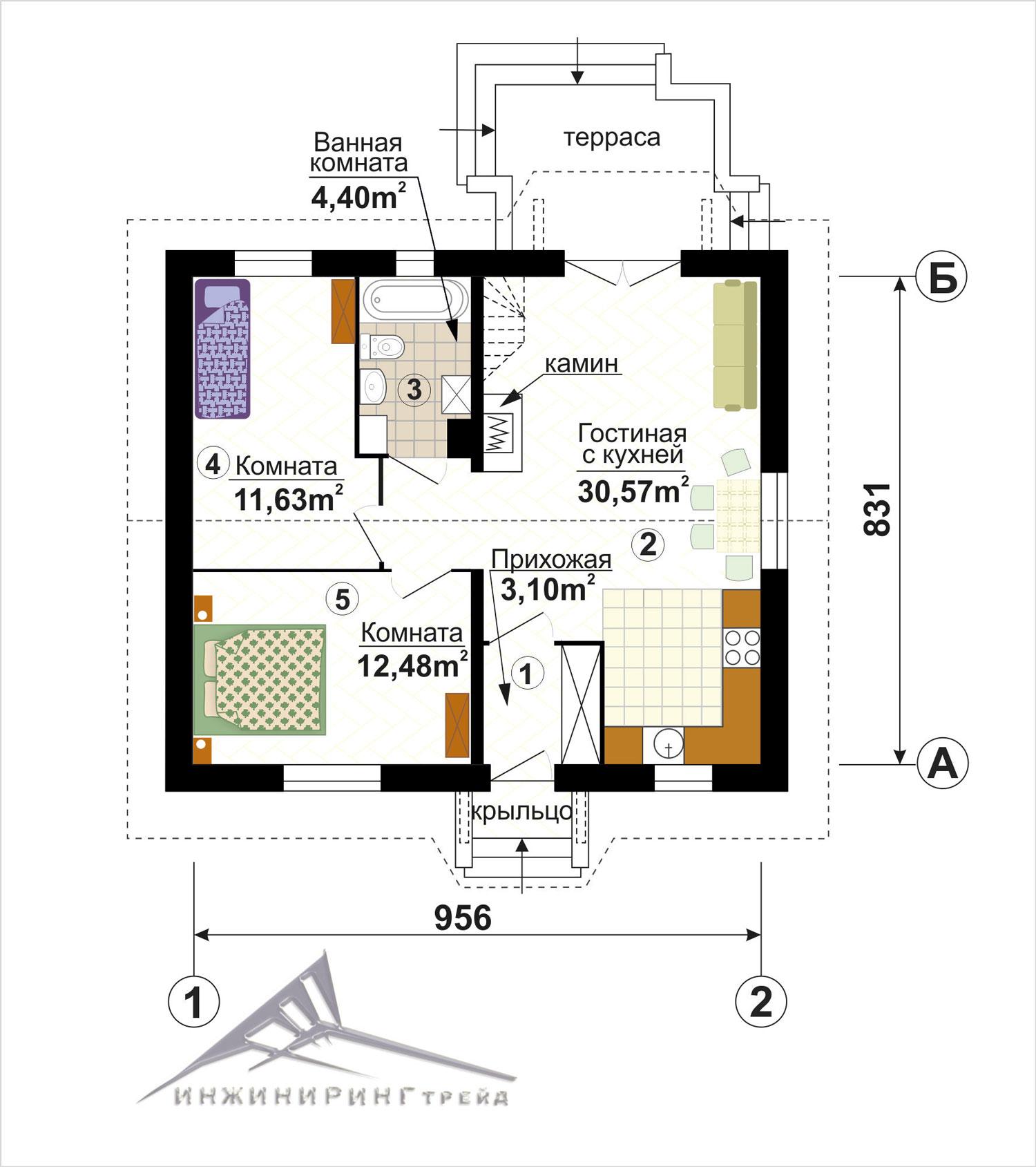 план дома одноэтажный